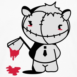 A Monster Kawaii figure   with a bloody ax Mugs  - Men's Premium Longsleeve Shirt