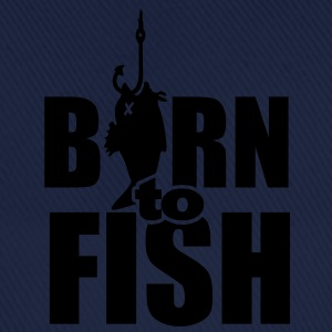 born to fish (fiske, b, 1c) Barneskjorter - Baseballcap