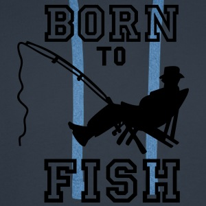 born to fish (Angeln, c, 1c) T-shirts - Sweat-shirt à capuche Premium pour hommes