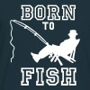 born to fish (Angeln, c, 1c) T-shirts - T-shirt Homme