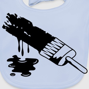 A brush and dripping paint Kids' Shirts - Baby Organic Bib