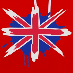 Un drapeau Angleterre peints T-shirts - Sweat-shirt contraste