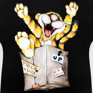 Tiger in the box Børne sweatshirts - Baby T-shirt
