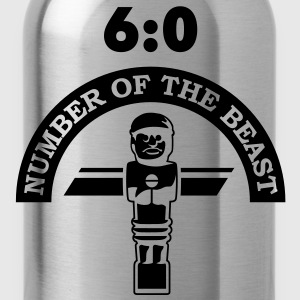 6:0 Number of the beast | Kicker-Shirt T-Shirts - Trinkflasche