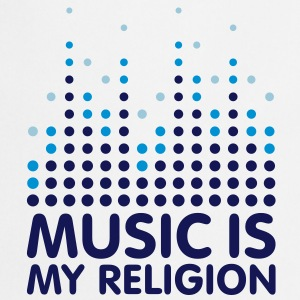 Music Is My Religion Women's T-shirts - Fartuch kuchenny