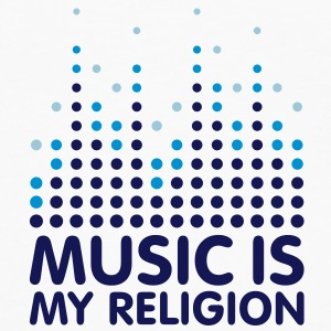 Music Is My Religion Mug - Långärmad premium-T-shirt herr