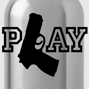 Play | Gun | Waffe T-Shirts - Drinkfles