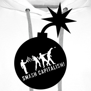 evolution_capitalism T-skjorter - Premium hettegenser for menn