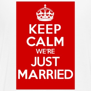 KEEP CALM we're JUST MARRIED - Men's Premium T-Shirt