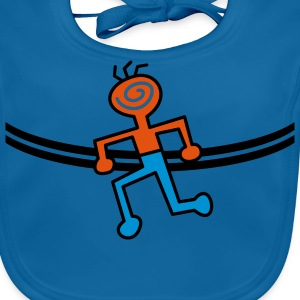 Brustband RUNNING MAN | Kindershirt - Baby Bio-Lätzchen