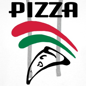 Pizza (3c) Tee shirts - Sweat-shirt à capuche Premium pour hommes