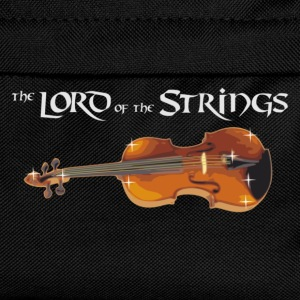 Lord of the Strings - text weiß T-Shirts - Kinder Rucksack