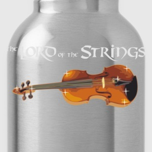 Lord of the Strings - text weiß T-Shirts - Trinkflasche
