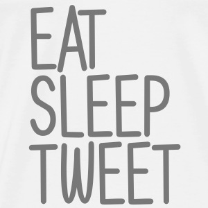 Eat Sleep Tweet Tröjor - Premium-T-shirt herr