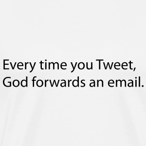 Every time you tweet, Gods forwards an email. Tröjor - Premium-T-shirt herr