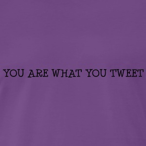 You are what you tweet Sweat-shirts - T-shirt Premium Homme