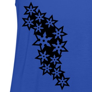 ninja_star_design_outline_1c T-Shirts - Women's Tank Top by Bella
