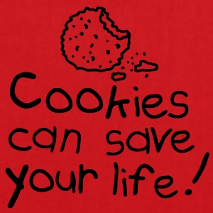 Cookies can save your life Grembiuli - Borsa di stoffa