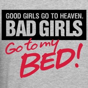 Bad Girls 2 My Bed 2 (2c)++ Tröjor - Slim Fit T-shirt herr