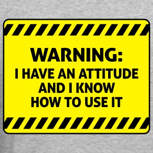 Attitude Warning 2 (2c)++ Sweaters - slim fit T-shirt