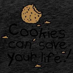 Cookies can save your life Gensere - Premium T-skjorte for menn