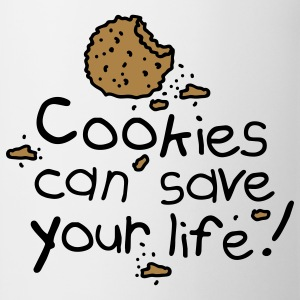 Cookies can save your life Mochilas - Taza
