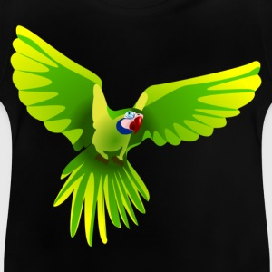Ara fliegt grün - flying green Ara Kinder T-Shirts - Baby T-Shirt
