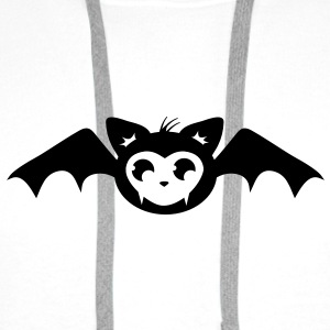 sweet bat in kawaii style Caps & Hats - Men's Premium Hoodie