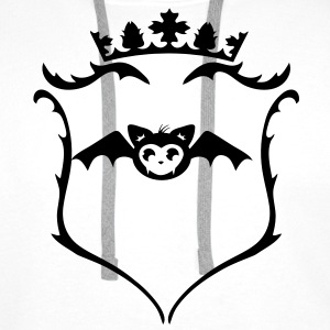 sweet bat in kawaii style T-Shirts - Men's Premium Hoodie