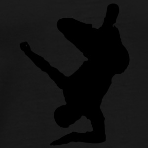 Breakdancer (on elbow) (Vector) - Männer Premium T-Shirt