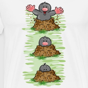 Happy Mole Tee shirts manches longues - T-shirt Premium Homme