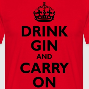 drink_gin_and_carry_on  Aprons - Men's T-Shirt