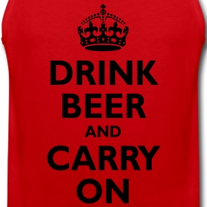 drink_beer_and_carry_on T-Shirts - Men's Premium Tank Top