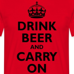 drink_beer_and_carry_on  Aprons - Men's T-Shirt