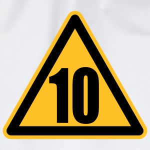 Warning 10 | Achtung 10 Kinder T-Shirts - Gymtas