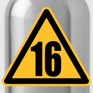 Warning 16 | Achtung 16 T-Shirts - Drinkfles