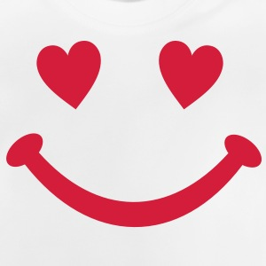 hart Smiley Glimlach Kinder shirts - Baby T-shirt