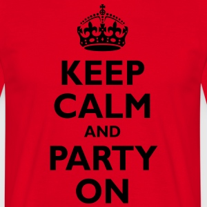 keep_calm_and_party_on  Aprons - Men's T-Shirt
