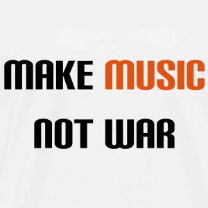 Make Music Not War (V) Shirts - Men's Premium T-Shirt