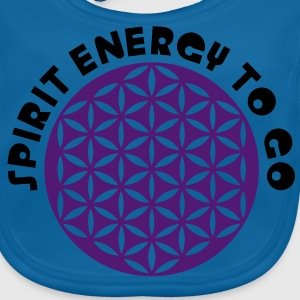 FLOWER OF LIFE / Blume des Lebens / Spirit Energy to go - punched | Kindershirt - Baby Bio-Lätzchen