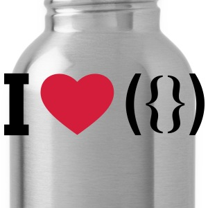 I LOVE PUSSY - ASCII  Aprons - Water Bottle
