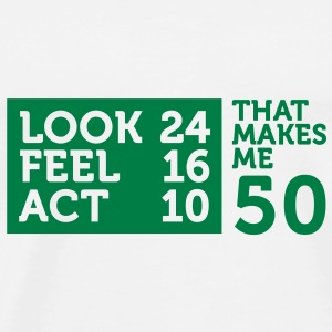 Look Feel Act 50 2 (1c)++ Bags  - Men's Premium T-Shirt