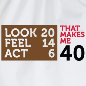 Look Feel Act 40 2 (dd)++ T-shirt - Sacca sportiva