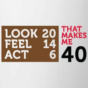 Look Feel Act 40 2 (dd)++ T-shirt - Tazza