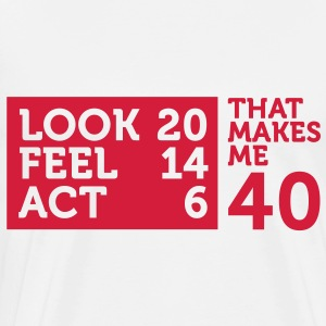 Look Feel Act 40 2 (1c)++ Sacs - T-shirt Premium Homme