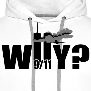 WHY | NY | World Trade Center | 9/11 T-Shirts - Felpa con cappuccio premium da uomo