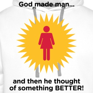 God Made Man 2 (dd)++ T-shirts - Premiumluvtröja herr