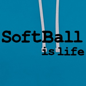 softball is life Tassen - Contrast hoodie