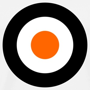 Orange Times Mod Target DigitalDirekt Buttons - Men's Premium T-Shirt