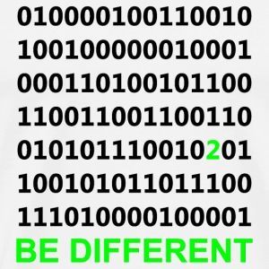 Be Different - Binary - Digital Kopper - Premium T-skjorte for menn